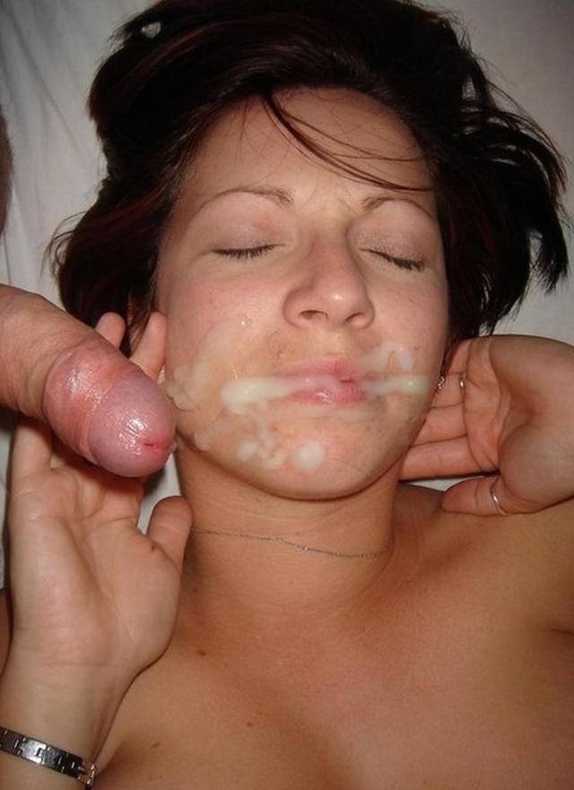 Сперма на личиках покорных жен