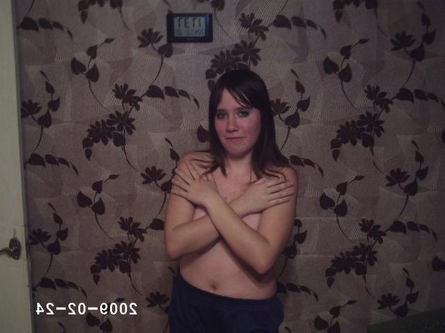 Тридцатилетняя Люба показала свои сиськи